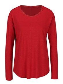 Červené dámské volné tričko s dlouhým rukávem s.Oliver