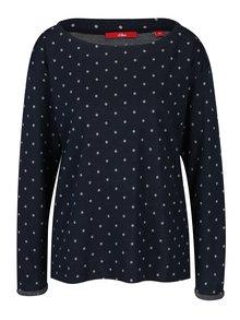 Bluza subtire bleumarin cu buline pentru femei -  s.Oliver