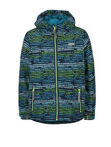 Modro-zelená klučičí vzorovaná zimní bunda LOAP Zengo