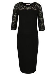 Čierne tehotenské šaty s čipkou Dorothy Perkins Maternity