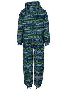 Modro-zelená chlapčenská vzorovaná otepľovacia kombinéza LOAP Zaslana