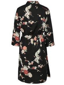 Černé květované šaty Dorothy Perkins Maternity