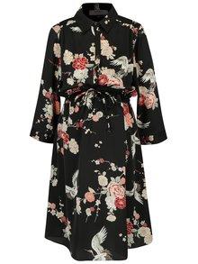 Čierne kvetované šaty Dorothy Perkins Maternity