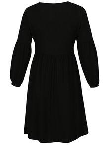 Černé šaty s balónovými rukávy Dorothy Perkins Curve