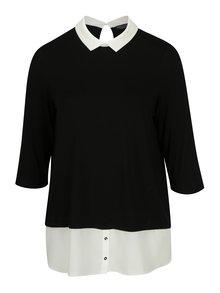 Černý volný top s límečkem Dorothy Perkins Curve