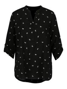 Čierna voľná vzorovaná blúzka Billie & Blossom Curve