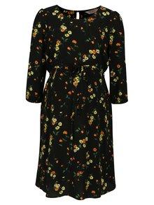 Čierne tehotenské kvetované šaty Dorothy Perkins Maternity