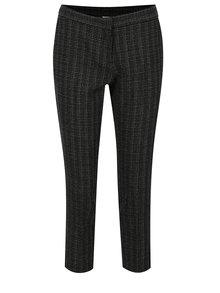 Čierne vzorované skrátené nohavice Dorothy Perkins Petite