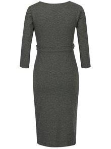 Sivé tehotenské šaty s prekladaným výstrihom Dorothy Perkins Maternity