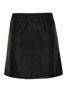 Černá koženková sukně s kapsami Noisy May Milton