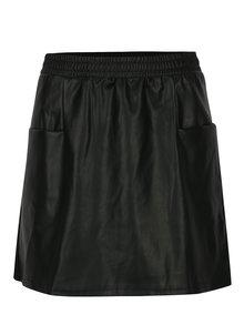 Čierna koženková sukňa s vreckami Noisy May Milton