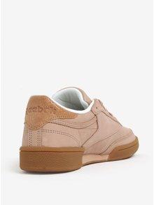 Pantofi sport roz prafuit din piele intoarsa pentru femei Reebok