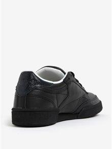 Čierne dámske kožené tenisky Reebok