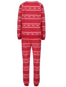 Pijama rosu & alb cu motive de Craciun - Dorothy Perkins
