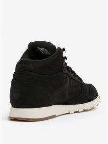 Černé pánské kožené kotníkové tenisky Reebok GTX-THIN