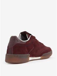 Pantofi sport bordo din piele intoarsa pentru barbati Reebok CLUB C 85 G