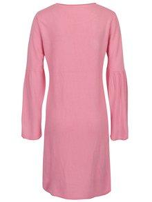 Růžové šaty s rozšířeným rukávem Jacqueline de Yong Stardust