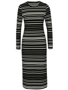 Krémovo-čierne pruhované šaty Noisy May Lina