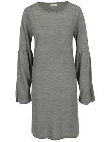 Šedé šaty s rozšířeným rukávem Jacqueline de Yong Stardust