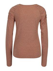 Staroružové tričko s riasením na ramenách Jacqueline de Yong Adora