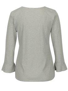 Krémové pruhované tričko s volány Jacqueline de Yong Cloud