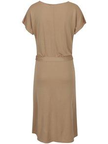 Béžové voľné šaty so zaväzovaním v páse VERO MODA Nice
