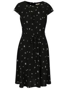Černé šaty s motivem vlaštovek Billie & Blossom