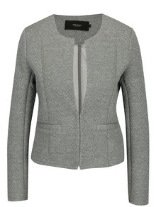 Jacheta gri cu model geometric in relief - VERO MODA Mia