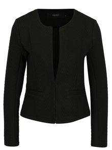 Čierne sako s jemným vzorom VERO MODA Mia