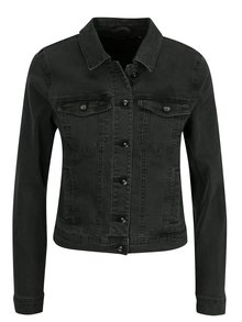 Jacheta gri inchis din denim cu buzunare - VERO MODA Hot Soya