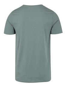 Modrosivé tričko s potlačou a okrúhlym výstrihom Jack & Jones Smokey