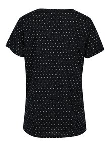 Tmavomodré voľné bodkované tričko Jacqueline de Yong Cloud