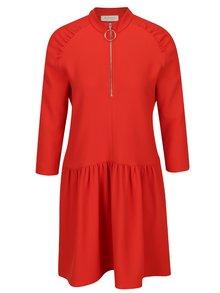 Červené mikinové šaty so zipsom Rich & Royal