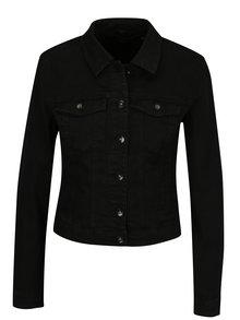 Jacheta neagra din denim cu buzunare - VERO MODA Hot Soya