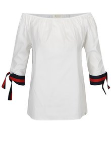Biela blúzka s odhalenými ramenami Rich & Royal