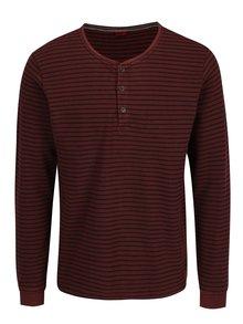 Bluza bordo cu dungi negre pentru barbati - s.Oliver