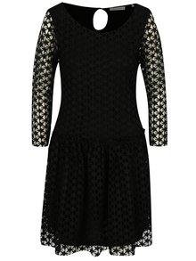 Čierne čipkované šaty Rich & Royal