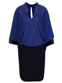 Modré šaty s volným topem s netopýřími rukávy La femme MiMi