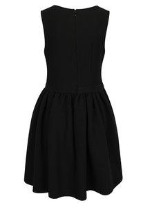 Černé žebrované šaty bez rukávů La femme MiMi