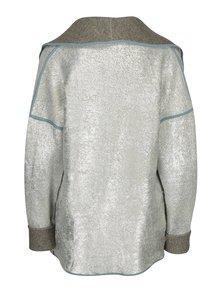 Oboustranný kadrigan ve stříbrné a šedé barvě La femme MiMi