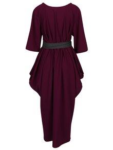 Fialové oversize šaty s opaskom La femme MiMi