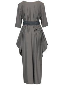 Sivé oversize šaty s opaskom La femme MiMi