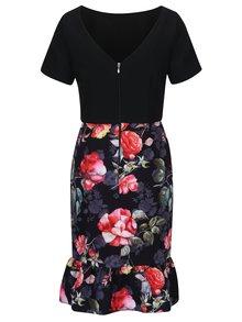 Čierne šaty s kvetovanou sukňou Paper Dolls