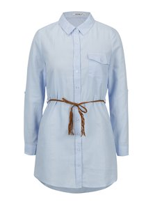 Světle modrá dlouhá košile s páskem Haily´s Larissa
