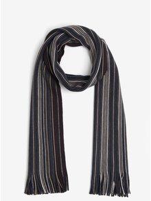 Modro-šedá pruhovaná šála Burton Menswear London