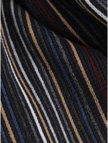 Fular tricotat cu dungi si franjuri  Burton Menswear London