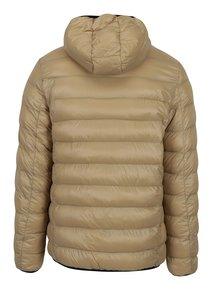 Béžová prešívaná bunda s kapucňou Burton Menswear London