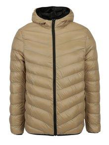 Béžová prošívaná bunda s kapucí Burton Menswear London