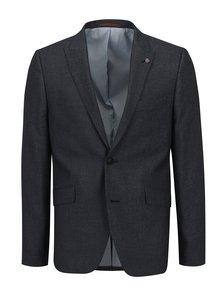 Modré pánske oblekové skinny sako s jemným vzorom Burton Menswear London