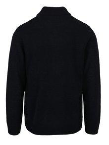 Tmavomodrý sveter so stojačikom Burton Menswear London